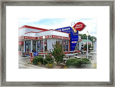 Old Timey Dairy Queen Framed Print