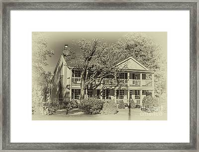 Old Timey Effect On Christopher Columbus Collier House Charlotte Historic Town Square Framed Print
