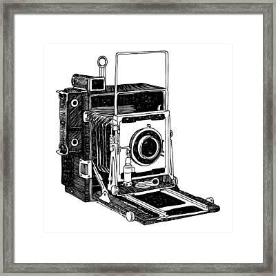 Old Timey Vintage Camera Framed Print