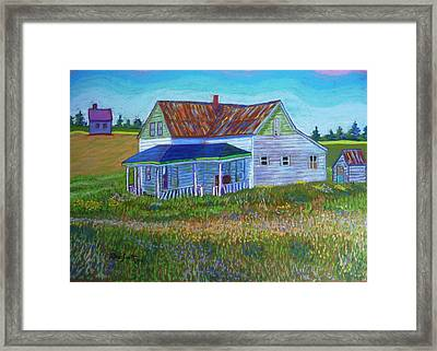 Old Tin Roof Framed Print