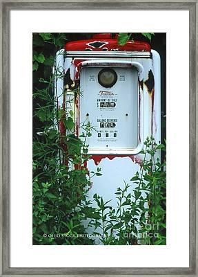 6g1 Old Tokheim Gas Pump Framed Print