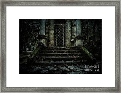 Old Tomb Framed Print by Mythja Photography