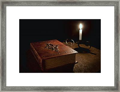 Old Tome Still Life II Framed Print