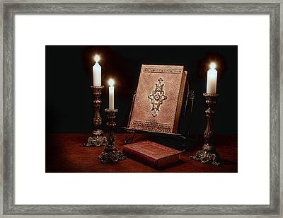 Old Tome Still Life IIi Framed Print