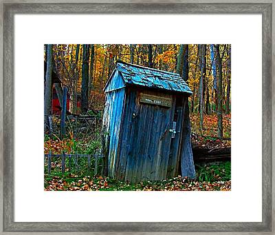 Old Tool Shed Framed Print by Julie Dant
