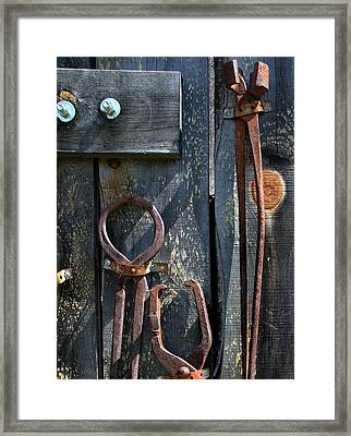 Framed Print featuring the photograph Old Tools by Joanne Coyle