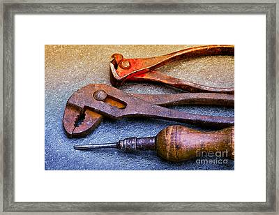 Old Tools Framed Print by Lutz Baar