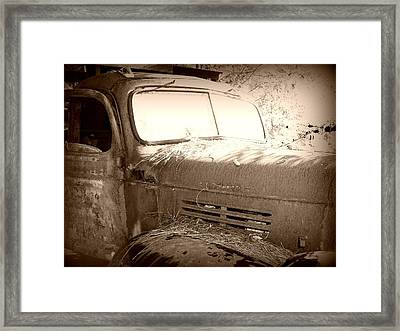 Old Tow Truck Framed Print by Dana  Oliver
