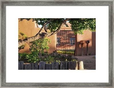 Old Town Albuquerque Pueblo  Framed Print by Gregory Ballos
