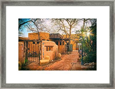 Old Town Albuquerque Secret Passageway  - Albuquerque New Mexico Framed Print by Silvio Ligutti