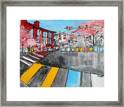 Old Town Alexandria Virginia Prince Street And Route One 2015041 Framed Print by Alyse Radenovic