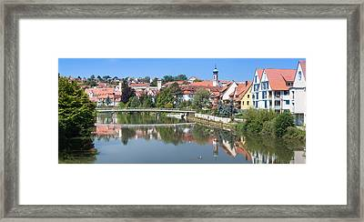 Old Town At The Neckar River Framed Print by Panoramic Images