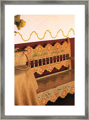 Old Town Bench Framed Print