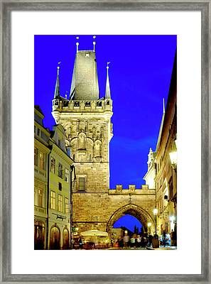 Framed Print featuring the photograph Old Town Bridge Tower by Fabrizio Troiani
