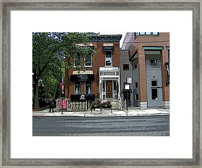 Framed Print featuring the photograph Old Town Chicago by Skyler Tipton