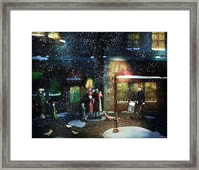 Old Town Christmas Eve Framed Print