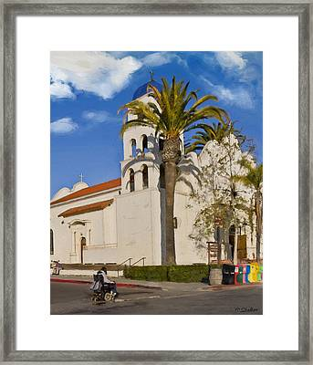 Old Town Church Framed Print by Patricia Stalter