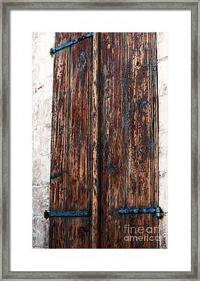 Old Town Door Framed Print by John Rizzuto
