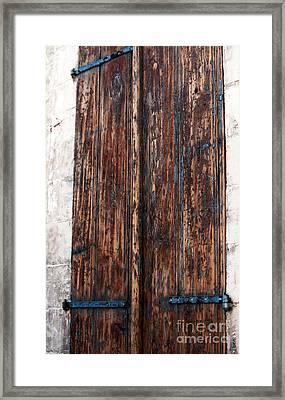 Old Town Door Framed Print