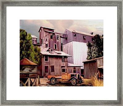 Old Town Granary Framed Print by Ron Chambers