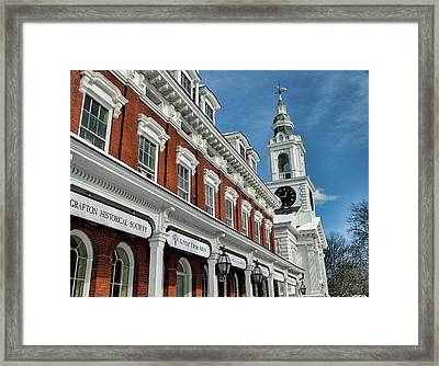 Old Town Hall And Unitarian Church Framed Print