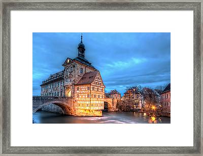 Old Town Hall - Bamberg Framed Print by Nico Trinkhaus