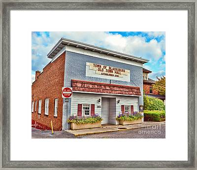 Old Town Hall Blacksburg Virginia Est 1798 Framed Print