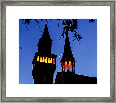 Old Town Hall Crescent Moon Framed Print