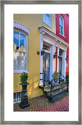 Old Town Homes I Framed Print by Steven Ainsworth