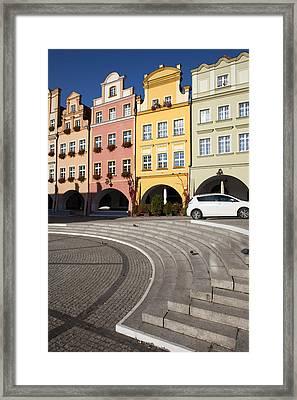 Old Town Houses Of Jelenia Gora City Framed Print