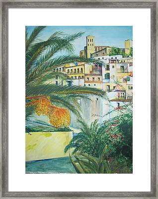 Old Town Ibiza Framed Print by Lizzy Forrester