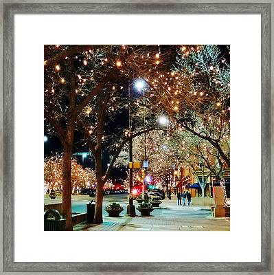 Old Town In December Framed Print by Shari Massey