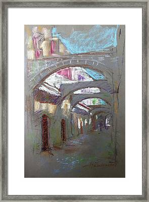 Old Town In Rhodes  Greece Framed Print