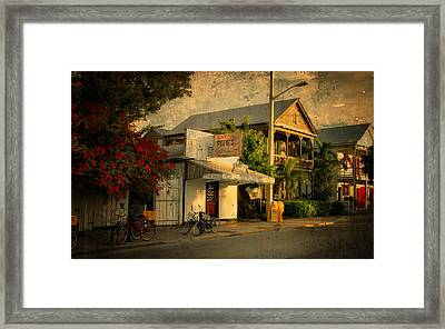 Old Town -  Key West Florida Framed Print by Thomas Schoeller