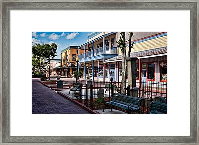 Old Town - Kissimmee - Shade To Sunlight Framed Print by Greg Jackson