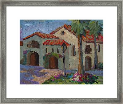 Old Town La Quinta Afternoon Framed Print by Diane McClary