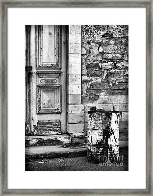 Old Town Limassol Black And White Framed Print