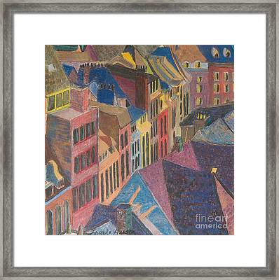 Old Town Framed Print by Lucinda  Hansen