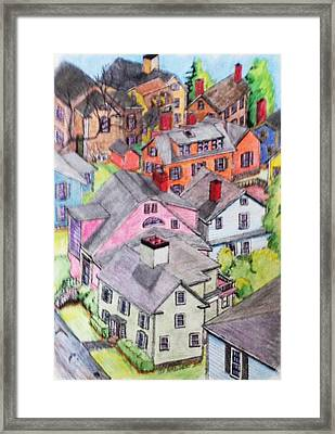 Old Town Marblehead Framed Print