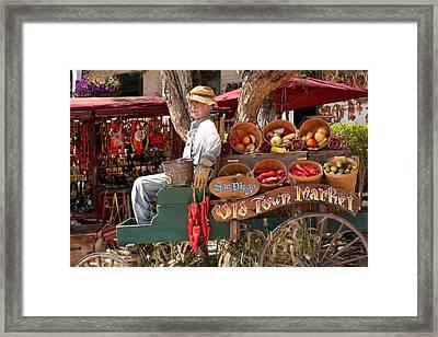 Old Town Market Framed Print