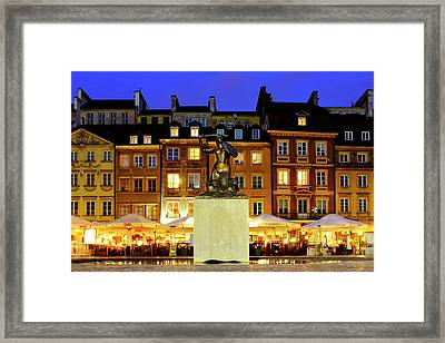 Framed Print featuring the photograph Old Town Market Place by Fabrizio Troiani