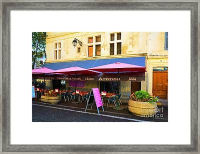 Old Town Of Arles 5 Framed Print by Mel Steinhauer