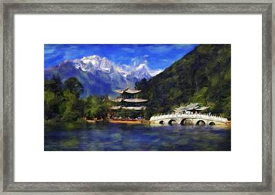 Old Town Of Lijiang Framed Print by Vincent Monozlay