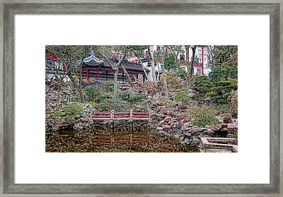 Old Town Rock Garden Shanghai Framed Print by Barb Hauxwell