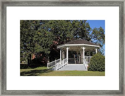 Old Town Salado Texas Gazebo Framed Print by Linda Phelps