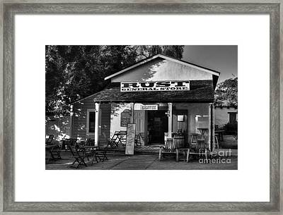 Old Town San Diego 2 Bw Framed Print