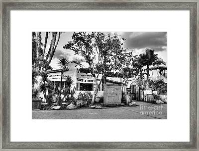 Old Town San Diego Bw Framed Print