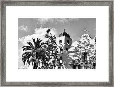 Old Town San Diego Shadows 3 Bw Framed Print
