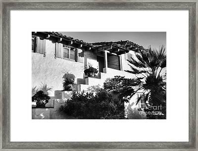 Old Town San Diego Shadows Bw Framed Print