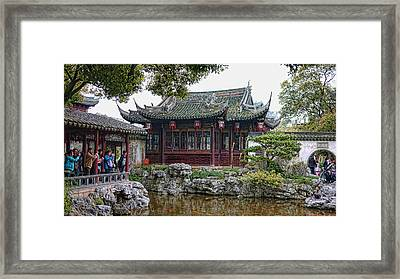 Old Town Shanghai Framed Print by Barb Hauxwell
